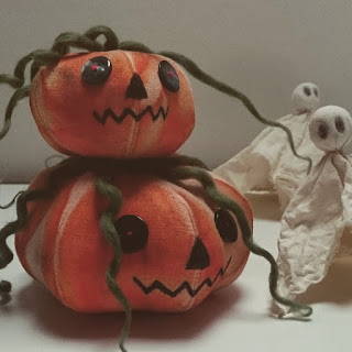 pumpkins and ghosts