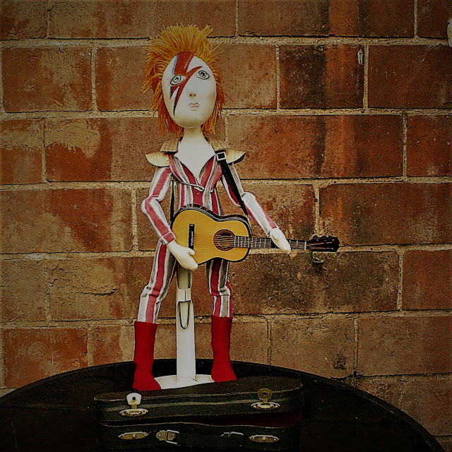 David Bowie Cloth Art Doll