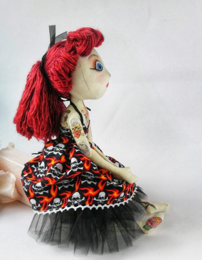 rockabilly art doll