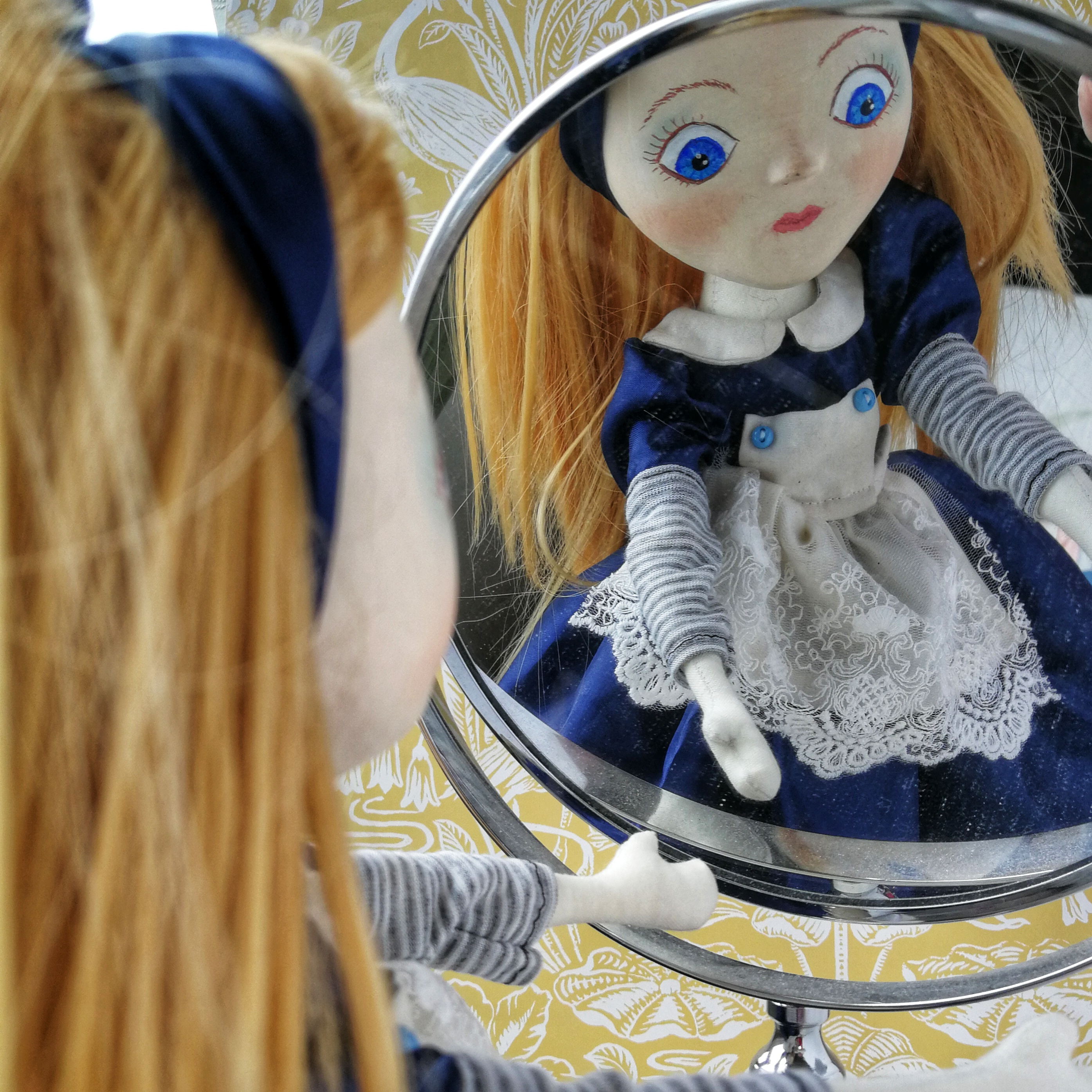 mixed media alice art doll