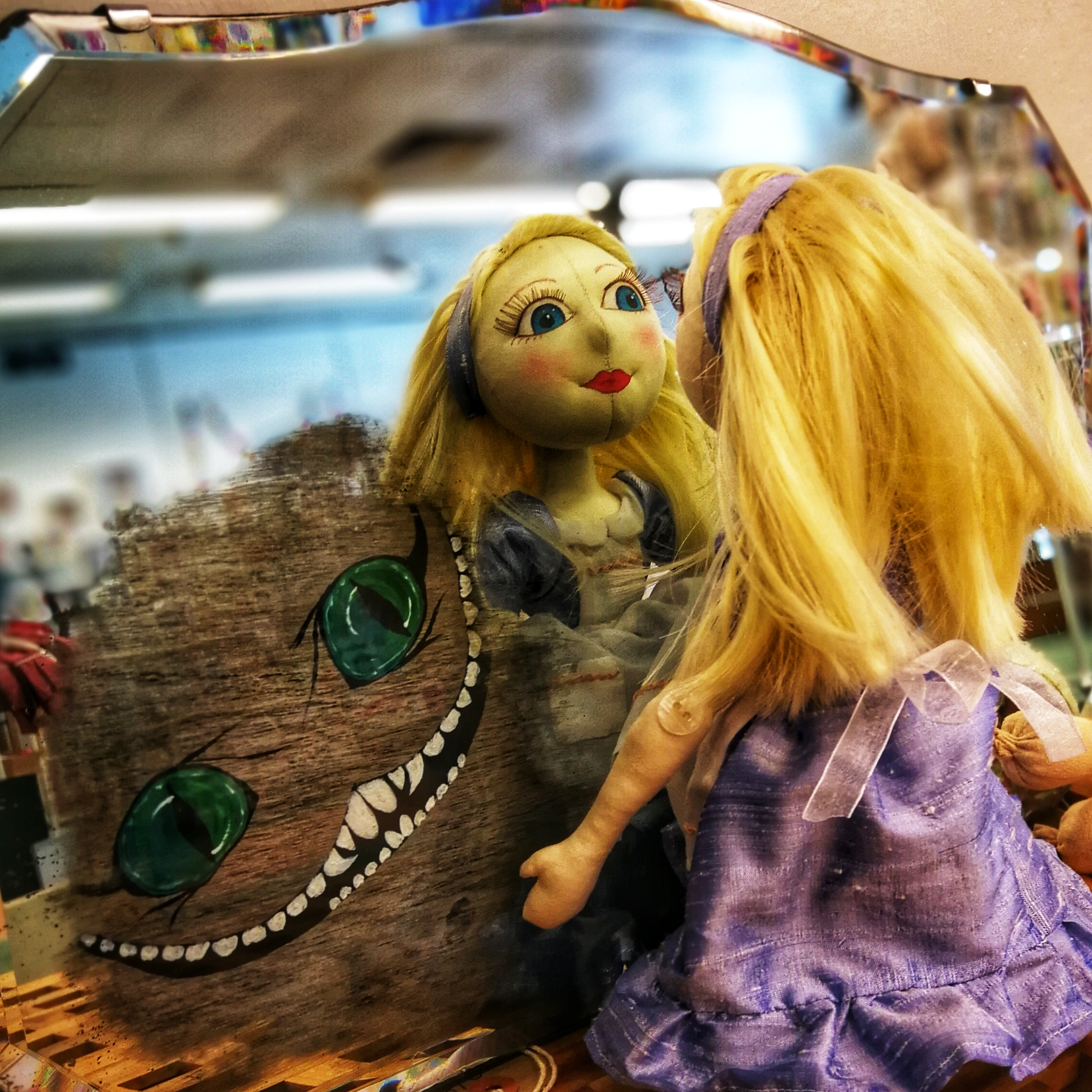 Alice looking through the looking glass