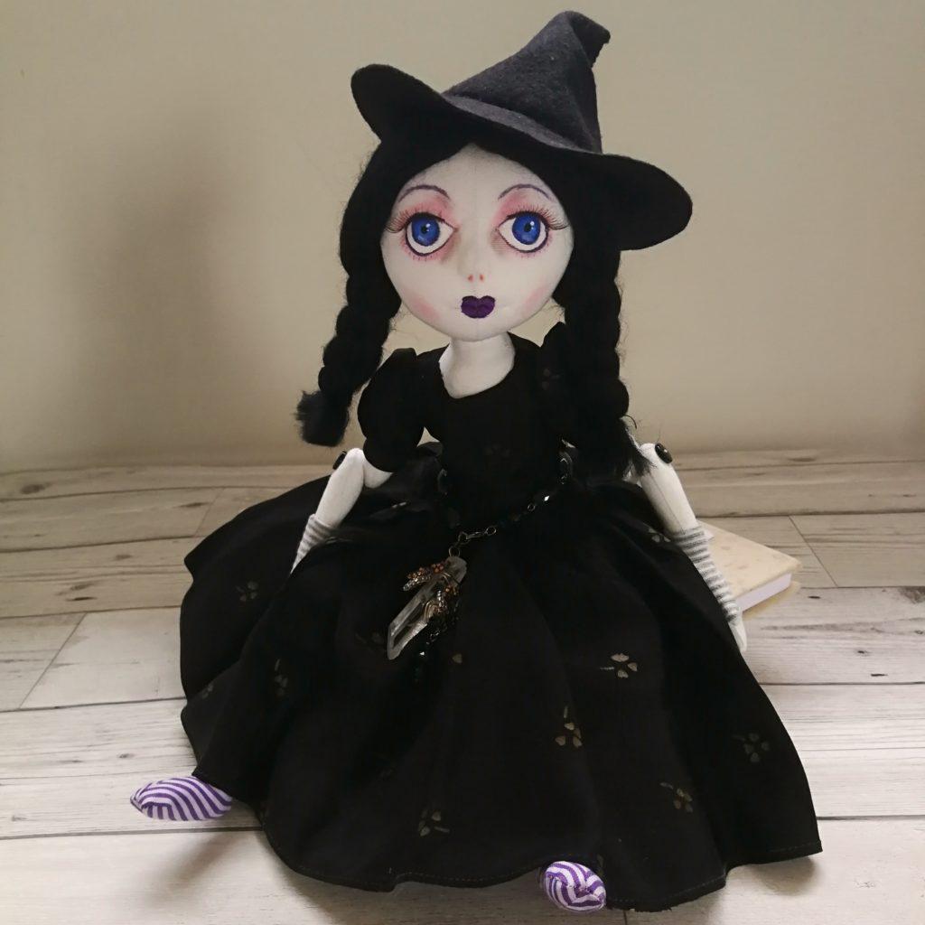 witch cloth art doll