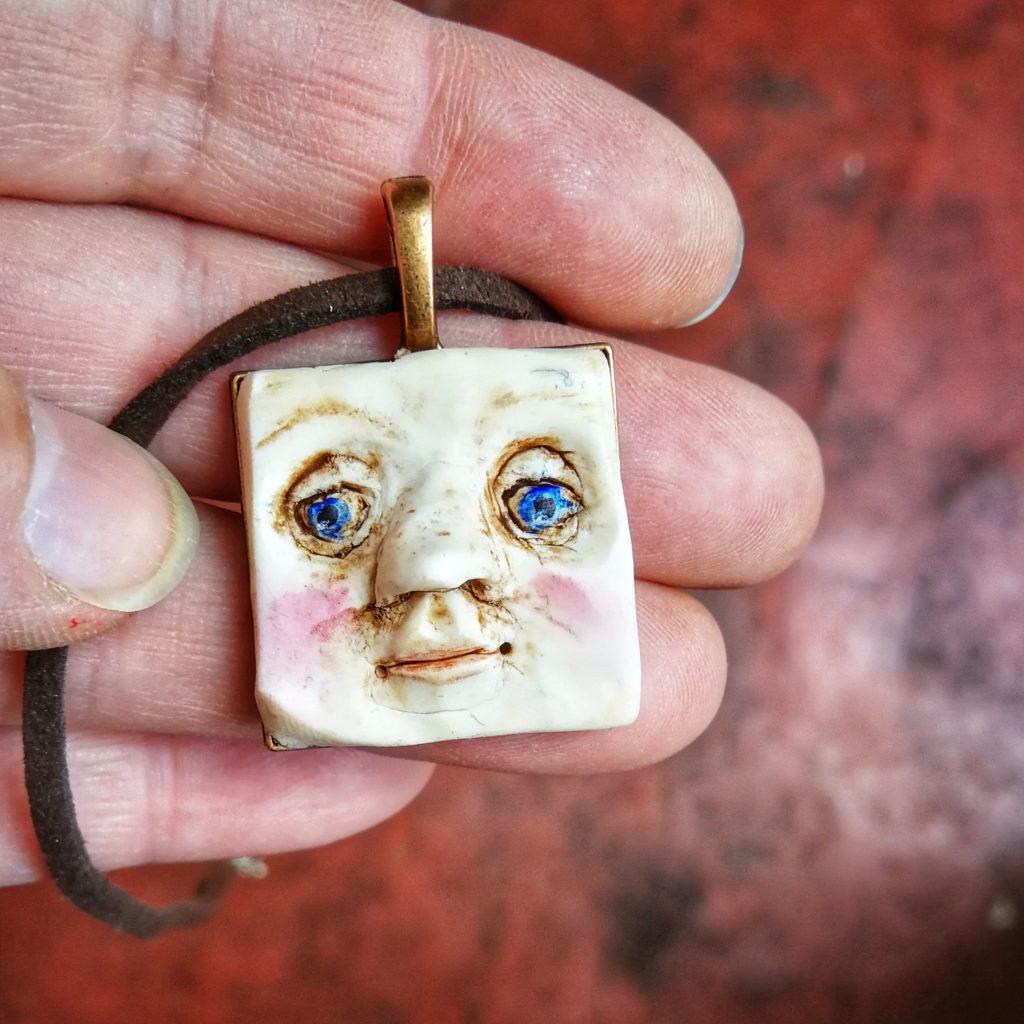 fimo clay face