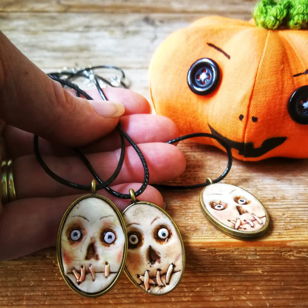 mumblers - gothic face necklaces