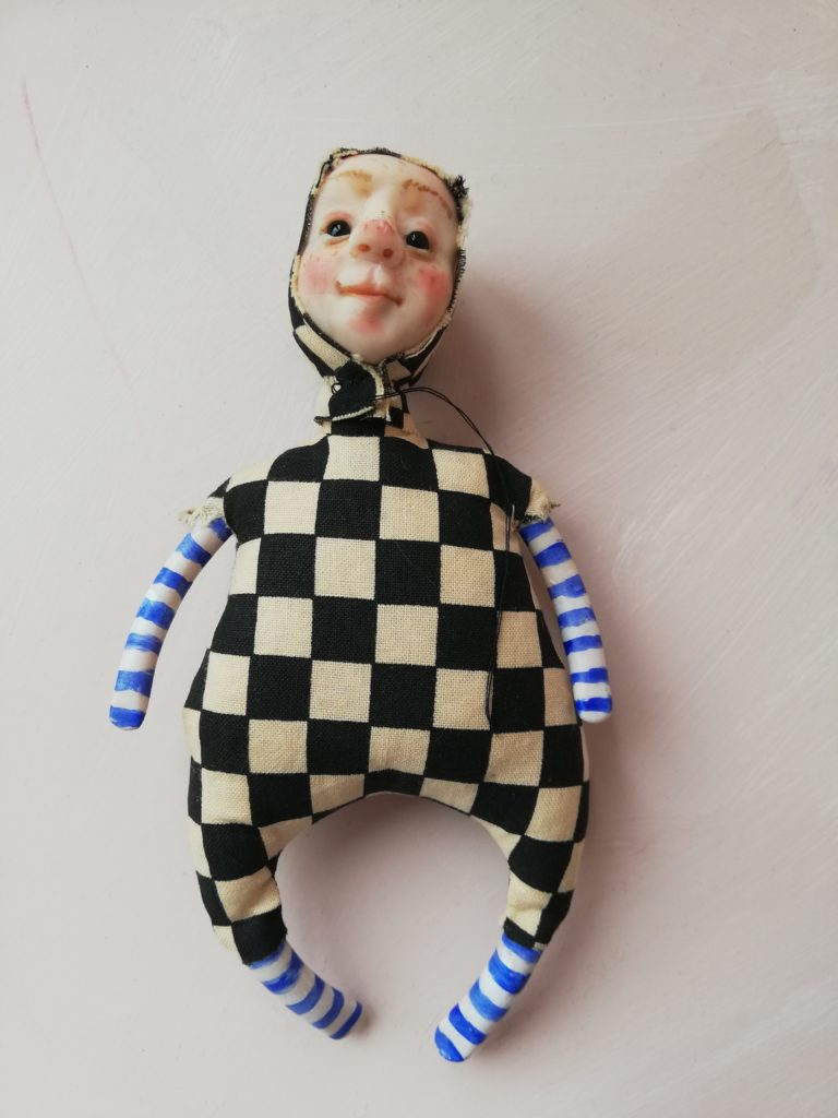 Alice in wonderland themed art doll