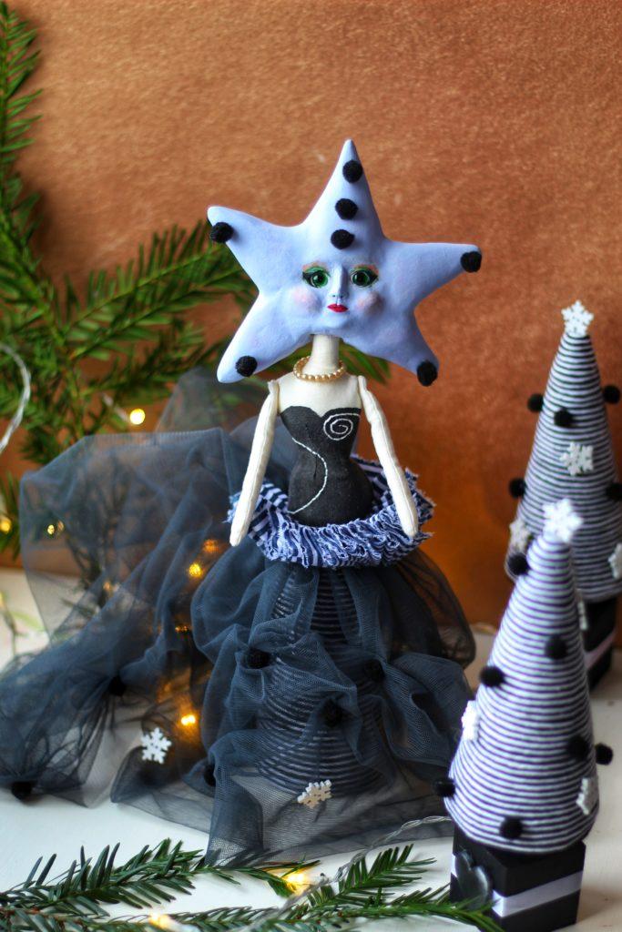 Star headed art doll