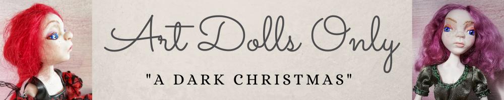 Art doll only dark Christmas banner