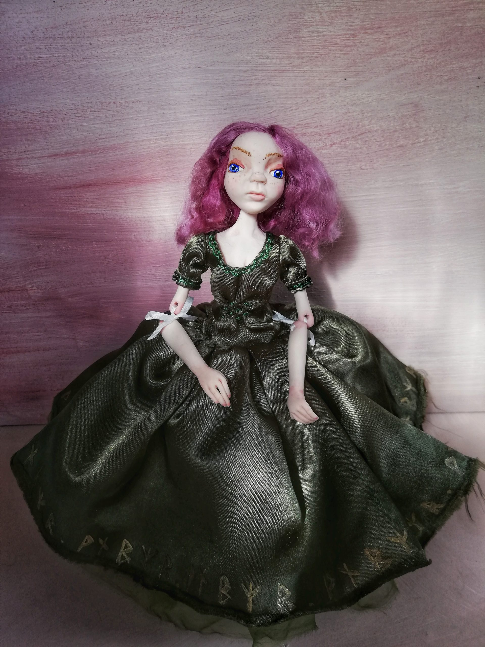 Aria ribbon jointed art doll