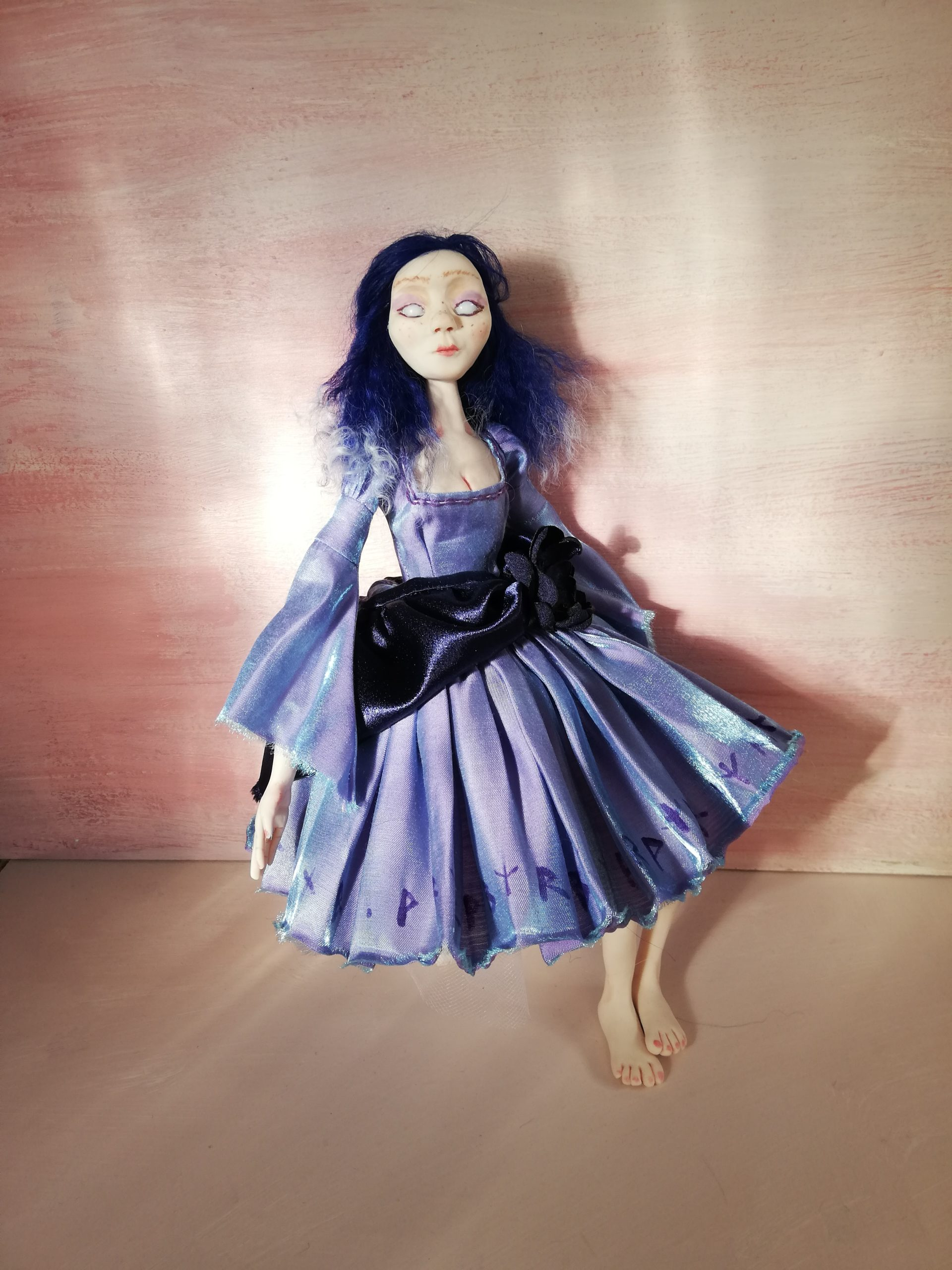 Soothsayer Art doll with ribbon joints